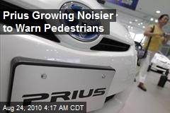 Prius Getting Noisier to Warn Pedestrians