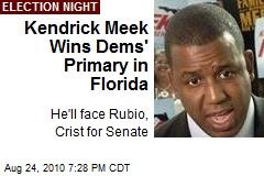 Kendrick Meek Wins Dems' Primary in Florida