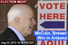 McCain, Brewer Win in Arizona