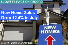 New Home Sales Drop 12.4% in July