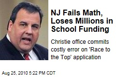 NJ Fails Math, Loses Millions in School Funding