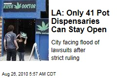 LA: Only 41 Pot Dispensaries Can Stay Open