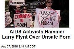 AIDS Activists Target Larry Flynt for Unsafe Porn
