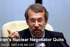 Iran's Nuclear Negotiator Quits