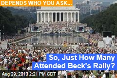 So, Just How Many Attended Beck's Rally?