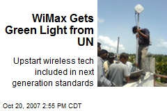 WiMax Gets Green Light from UN