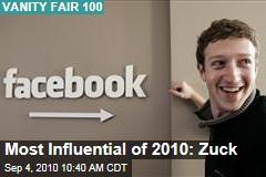 Most Influential of 2010: Zuck