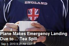 Emergency Landing due to Tea Spill