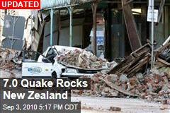 7.0 Quake Rocks New Zealand