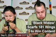 'Black Widow' Scarfs 181 Wings to Win Contest
