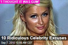 10 Ridiculous Celebrity Excuses