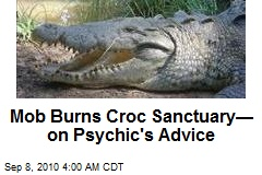 Mayan Mob Burns Crocodile Sanctuary